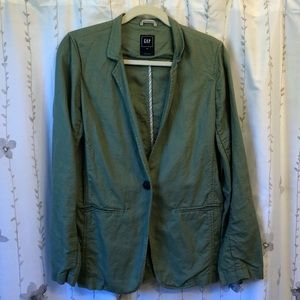 GAP Linen/Cotton Army Green Blazer